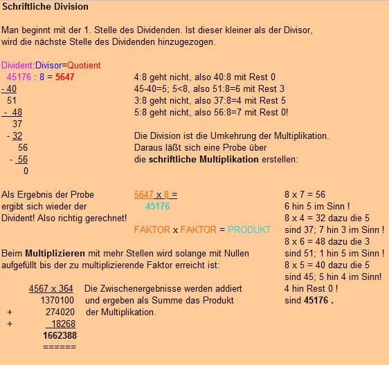 mathematik-grundrechenarten-schriftlich addieren, subtrahieren